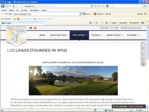 Mijas Golf Club Website