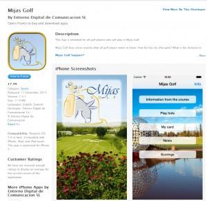 Mijas Golf App