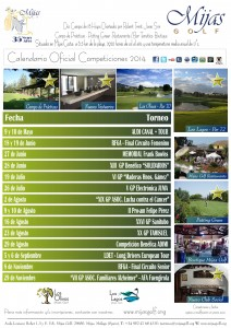 Mijas Golf - Calendario de Competiciones 2014