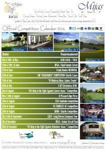 Mijas Golf - 2014 Competitions Calendar