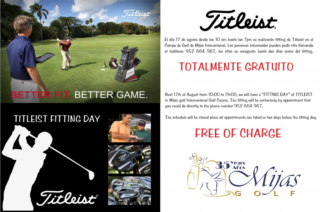 WEB TITLEIST FITTING DAY poster