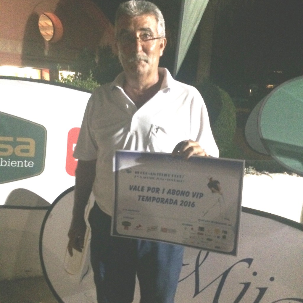 Ganador Abono Vip Anual 2016 - 2016 Yearly Membership Winner - Evaristo Vazquez Porras