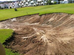 Mijas Golf Club - Los Olivos - Reparación de Bunkers - Bunkers' Reparation