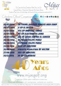 Calendario Competiciones 2016esp