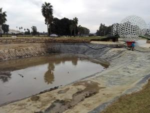 Reparación lago del hoyo 11 - 11th Hole lake's repairs.
